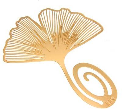 Studio Briana Golden Ginkgo Leaf Bookmark Metal Clip Bookmark