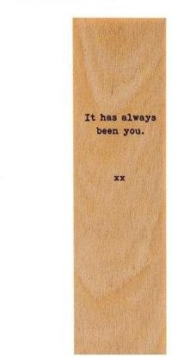 SLK Wood Products PF26 Wooden Bookmark