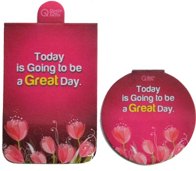 QuoteSutra Today Is Going To Be a Great Day Set of 2 Magnetic Bookmark