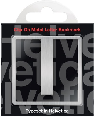 If by Chitra Helvetica Letter - I Metal Clip Bookmark