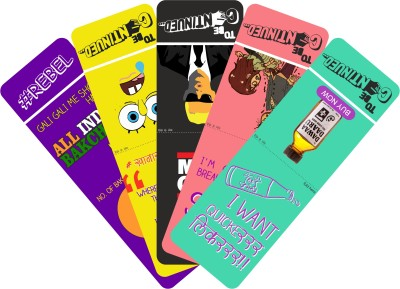 To Be Continued Pack of 5 (3) Paper Bookmark(Colorfull, Blue)