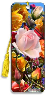 Om Book Shop Roses 3D Bookmark