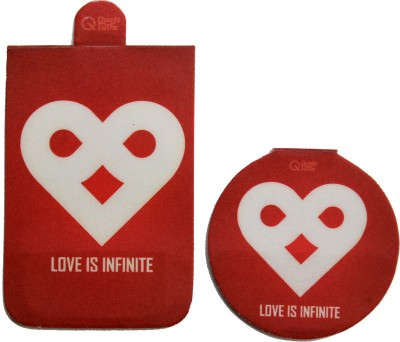 QuoteSutra Love Is Infinite Set Of 2 Magnetic Bookmark