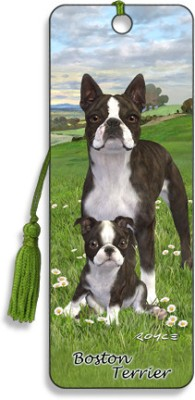 Om Book Shop Royce Boston Terrier 3D Bookmark