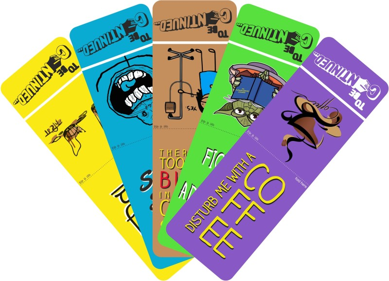 To Be Continued Pack of 5 Laminated Paper Bookmark(Colorfull, Yellow)