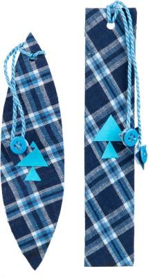 SG BOOKMARKS MIDNIGHT BLUE CHECK DESIGN MOUNT BOARD Bookmark