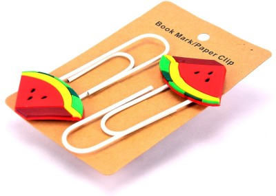 Enwraps Watermelon 4 pcs Metal Clip Bookmark