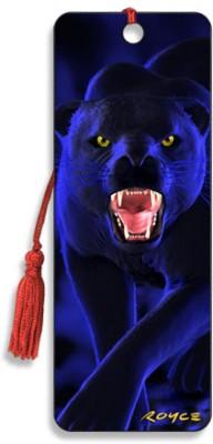 Om Book Shop Panther 3D Bookmark