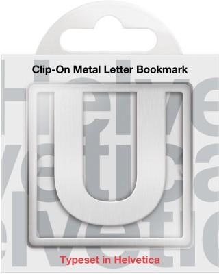 If by Chitra Helvetica Letter - U Metal Clip Bookmark