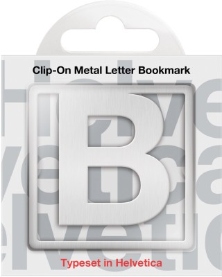 If by Chitra Helvetica Letter - B Metal Clip Bookmark