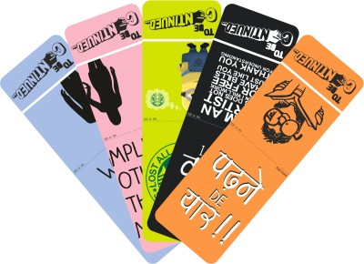 To Be Continued Pack of 5(2) Laminated Paper Bookmark(Colorfull, Blue, Pink, Green, Black, Orange)