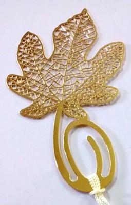 Temple Trees Maple Leaf Metal Bookmark Bookmark