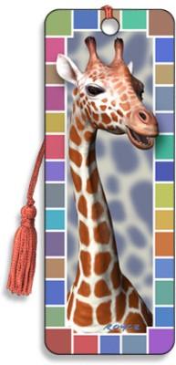 Om Book Shop Giraffe 3D Bookmark