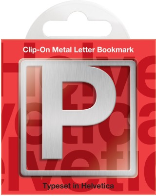 If by Chitra Helvetica Letter - P Metal Clip Bookmark