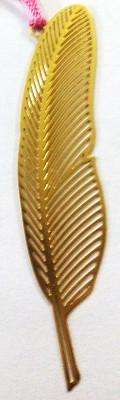 Temple Trees Feather Metal Bookmark Bookmark