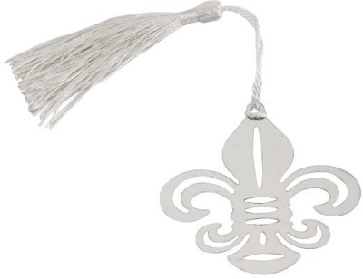 Babies BLoom Elegant WhiteSilk Tassel Metal Bookmark(Silk Tassel, Multicolor)