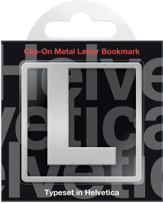 If by Chitra Helvetica Letter - L Metal Clip Bookmark