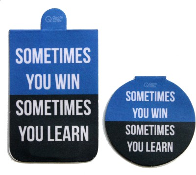QuoteSutra Sometimes You Win Sometimes You Learn Magnetic Bookmark