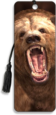 Om Book Shop Grizzly 3D Bookmark