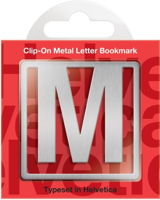 If by Chitra Helvetica Letter - M Metal Clip Bookmark