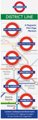 If by Chitra London Underground Mini Bookmarks - District Magnetic Bookmark