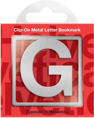If by Chitra Helvetica Letter - G Metal Clip Bookmark