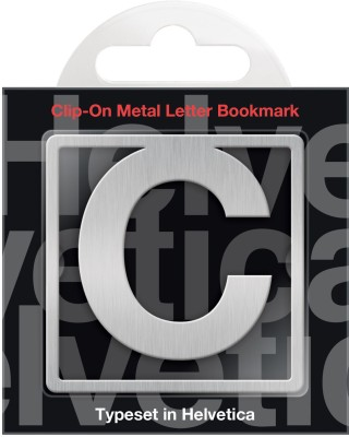 If by Chitra Helvetica Letter - C Metal Clip Bookmark