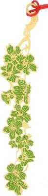 Temple Trees Green Flowers Metal Bookmark Bookmark
