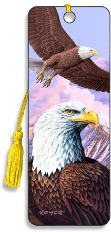 Om Book Shop Eagles 3D Bookmark(General, Multicolor)