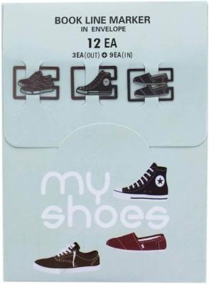 Tootpado 3 pc My Shoes Theme Smart Last Line Metal Clip Bookmark