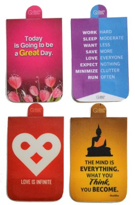 QuoteSutra Food For Your Soul Collection of Four Magnetic Bookmark