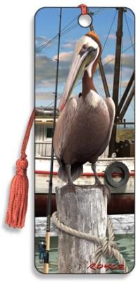Om Book Shop Pelican 3D Bookmark