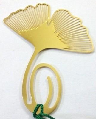 Temple Trees Fan Leaf Metal Bookmark Bookmark