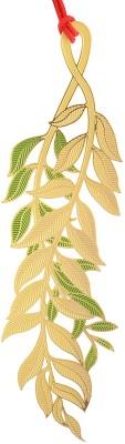 Temple Trees Green & Gold Leaf Metal Bookmark Bookmark