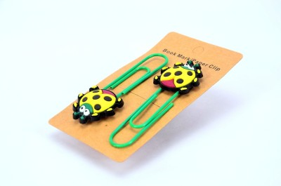 Enwraps Yellow Ladybird 2 pcs Metal Clip Bookmark
