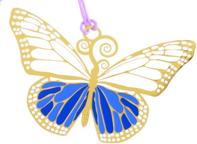 Temple Trees Butterfly Metal Bookmark Bookmark