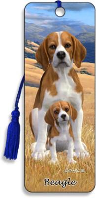 Om Book Shop Beagle 3D Bookmark