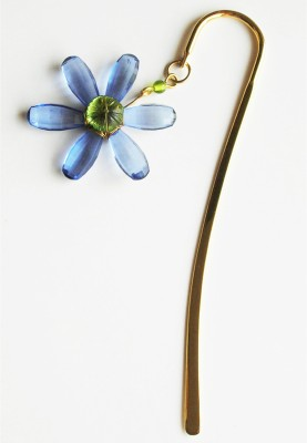 kanhai Flower Daisy Metal Clip Bookmark(Garden, Blue)