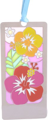 Temple Trees Flowers Red Yellow Metal Bookmark Bookmark