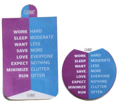QuoteSutra Life Sutra 2 Work Hard Set of 2 Magnetic Bookmark