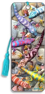 Om Book Shop Geckos 3D Bookmark