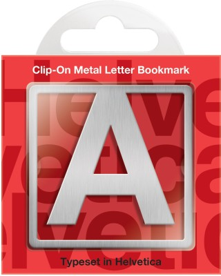 If by Chitra Helvetica Letter - A Metal Clip Bookmark
