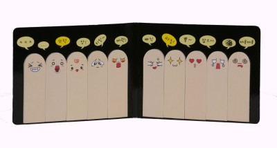 Bellazaara Sticky Note Memo Pad Cute Finger Shape Paper Bookmark(Finger, Beige)