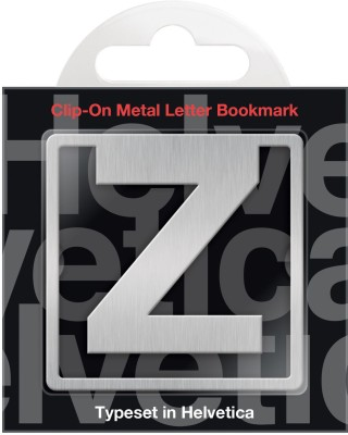 If by Chitra Helvetica Letter - Z Metal Clip Bookmark