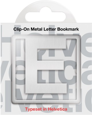 If by Chitra Helvetica Letter - E Metal Clip Bookmark