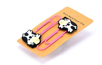 Enwraps Cow 2 pcs Metal Clip Bookmark