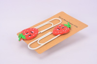 Enwraps Strawbery 4 pcs Metal Clip Bookmark