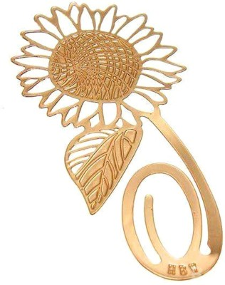 Studio Briana Golden Sunflower Metal Bookmark Metal Clip Bookmark