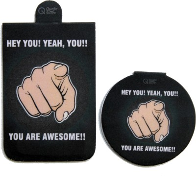 QuoteSutra You Are Awesome Set of 2 Magnetic Bookmark