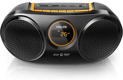 Philips Bluetooth USB Direct SD FM Digital Tuner (AT10/00) Boom Box (Black)
